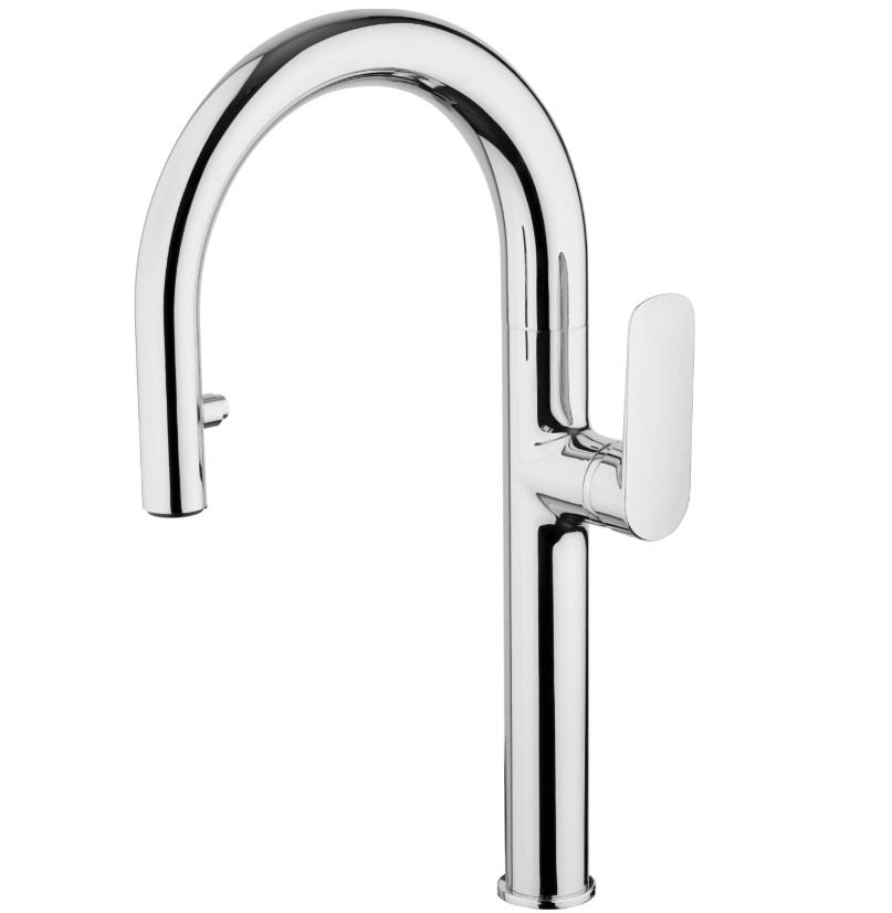 LaToscana-09CR591B  SINGLE HANDLE PULL DOWN SPRAY KITCHEN FAUCET IN CHROME