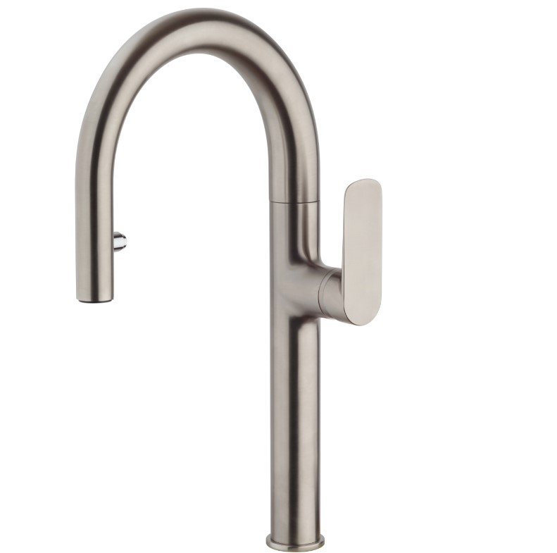 LaToscana-09PW591B  SINGLE HANDLE PULL DOWN SPRAY KITCHEN FAUCET- BRUSHED NICKEL