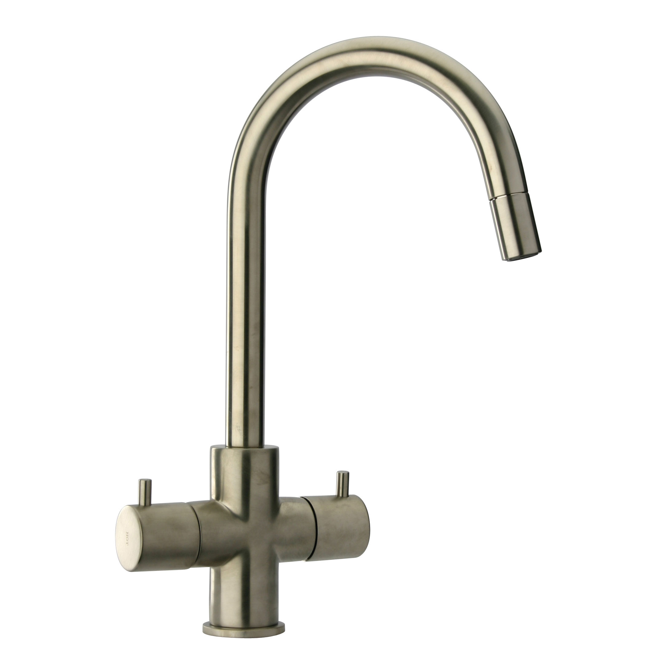 LaToscana-78PW491  TWO HANDLE PULL-DOWN KITCHEN FAUCET IN BRUSHED NICKEL PVD