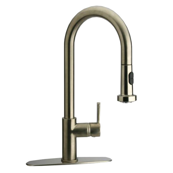 LaToscana-92PW591LL  PULL-DOWN KITCHEN MIXER IN BRUSHED NICKEL PVD