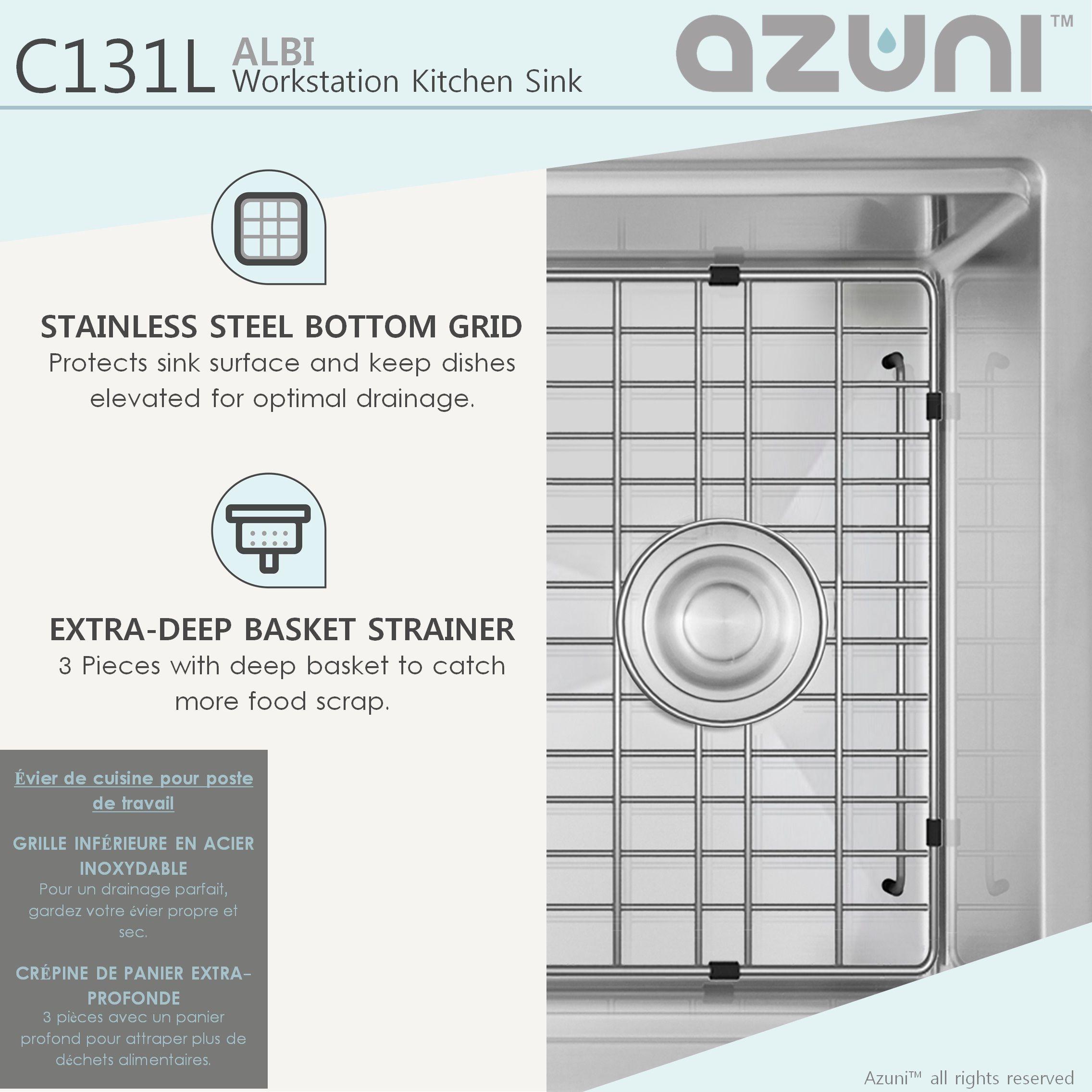 Azuni Albi C131l 30 X 19 Stainless Steel Undermount Sink