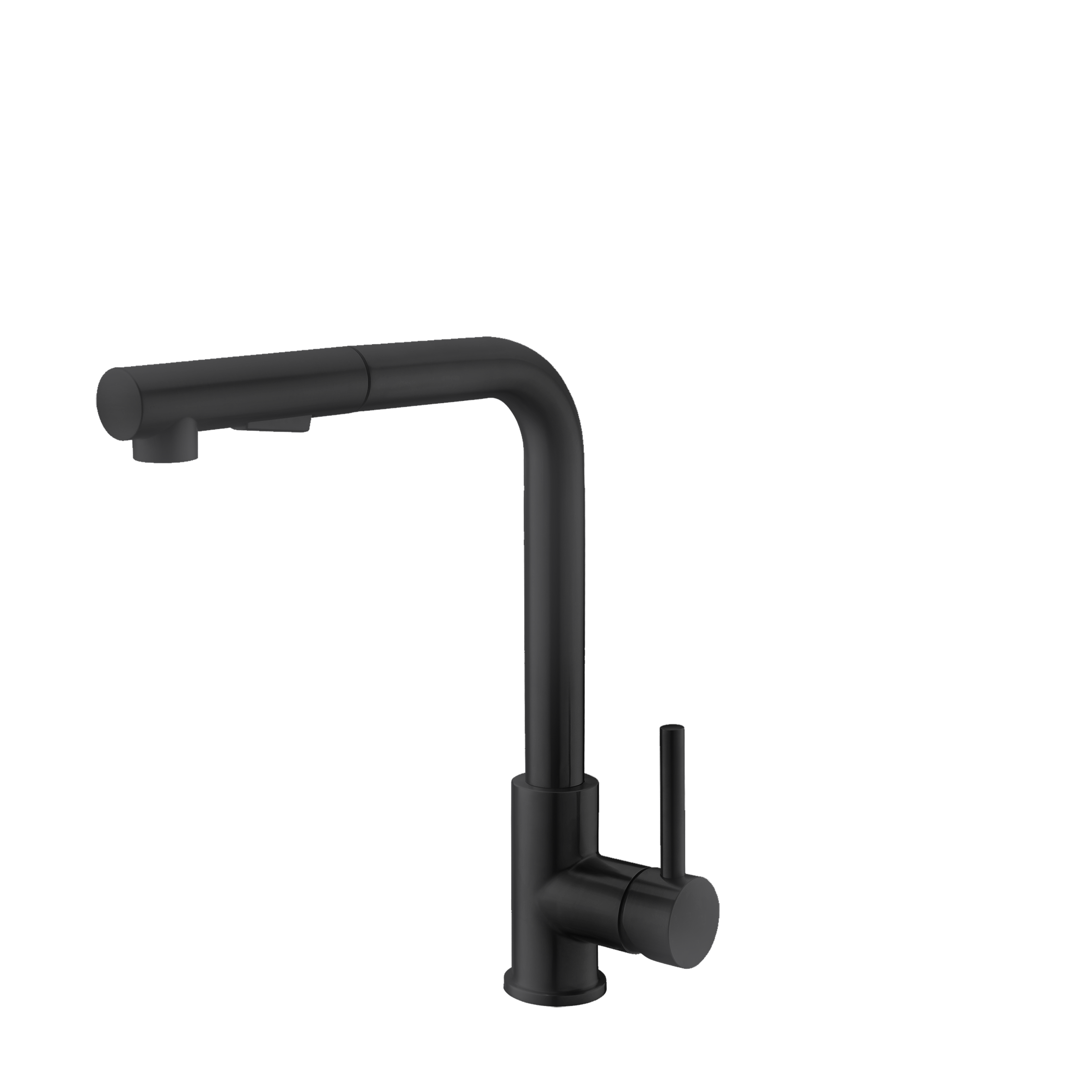 Stylish - Pull Down Matte Black Kitchen Faucet K-130N