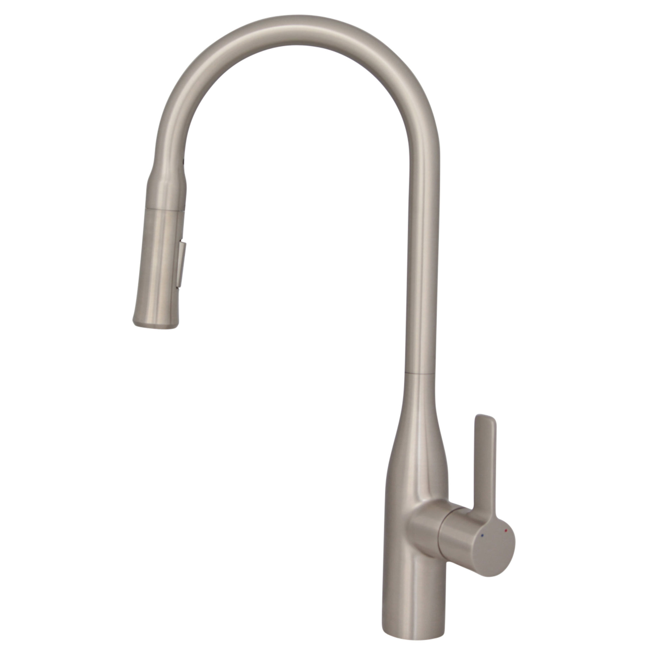 Stylish - K-133B  - Pull Down Single Handle Kitchen Faucet - Brushed Nickel