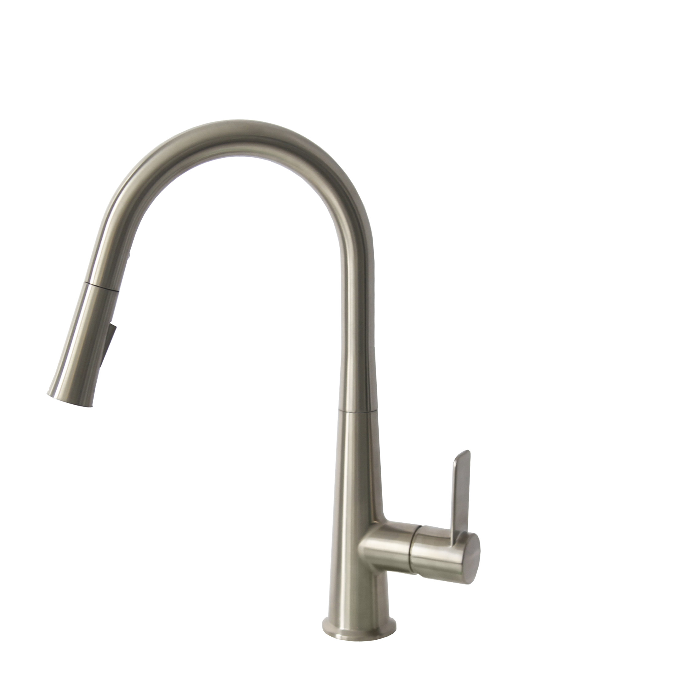 Stylish - K-135B  - Pull Down Single Handle Kitchen Faucet - Brushed Nickel