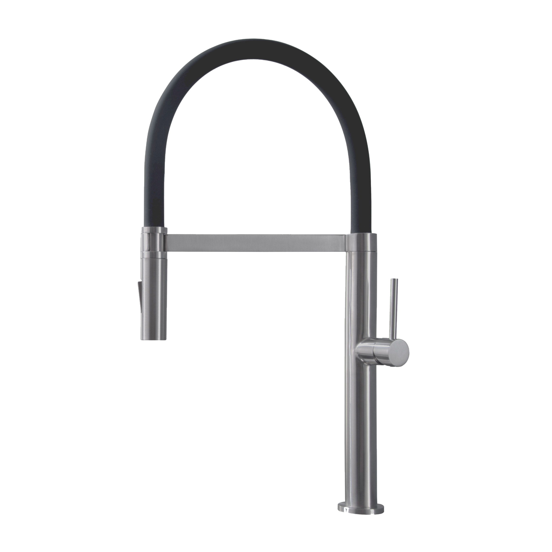Stylish - K-140B  - Pull Out Single Handle Stainless Steel Kitchen Faucet