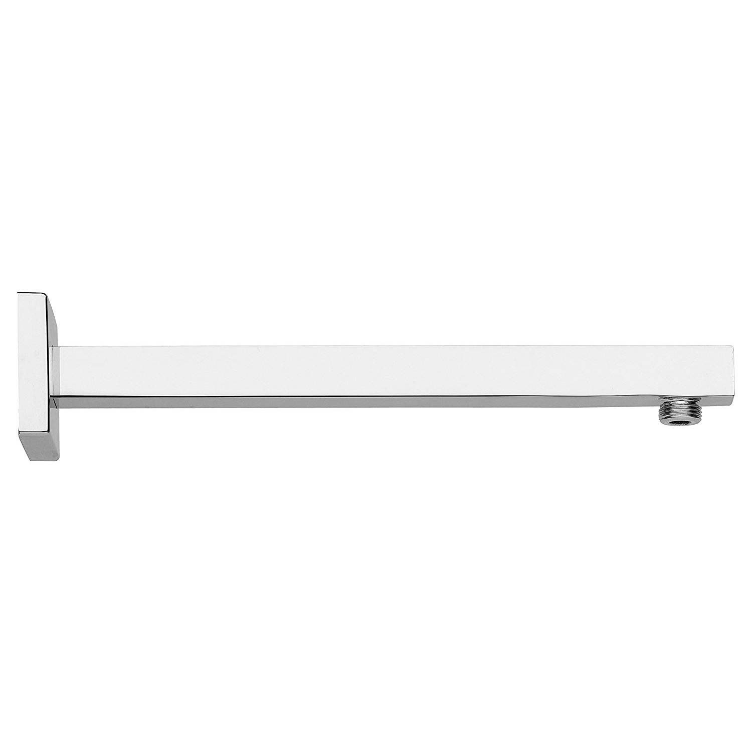 LaToscana-SQCR74412 Chrome 12 in. wall mount shower arm with strengthened fixing