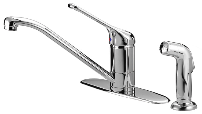 LaToscana-USCR574TS  GIOTTO KITCHEN FAUCET W/ SIDE SPRAY IN CHROME