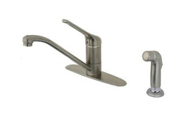 LaToscana-USPW574TS  GIOTTO KITCHEN FAUCET W/ SIDE SPRAY IN BRUSHED NICKEL PVD