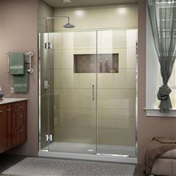 DreamLine Unidoor-X D12414572-01 Hinged Shower Door in Chrome