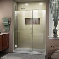 DreamLine Unidoor-X D12414572-04 Hinged Shower Door in Brushed Nickel