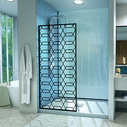 DreamLine Linea Maze D3234720HX-09 Screen Shower Door in Satin Black