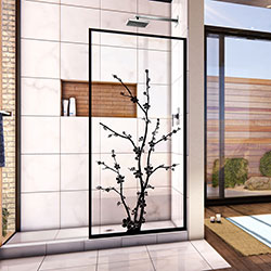 DreamLine Linea Blossom D3234720ZNB-09 Screen Shower Door in Satin Black