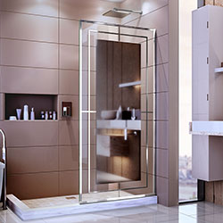 DreamLine Platinum Linea D3234721M12-08 Screen Shower Door in Polished Stainless Steel