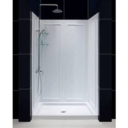 DreamLine QWALL-5 DL-6071C-01 Shower Base and Backwalls in White