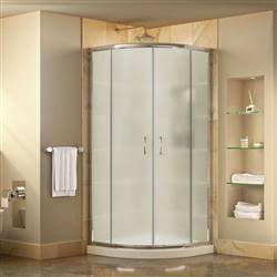 DreamLine Prime DL-6703-01FR Sliding Shower Enclosure in Chrome with White Acrylic Base Kit