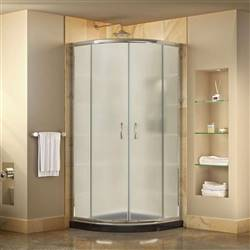 DreamLine Prime DL-6703-89-01FR Sliding Shower Enclosure in Chrome with Black Acrylic Base Kit