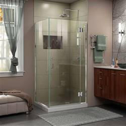 DreamLine Unidoor-X E12430-01 Hinged Shower Enclosure in Chrome