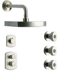 LaToscana - NOVELLO Shower Option 4 Brushed Nickel
