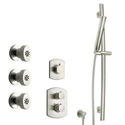 LaToscana - NOVELLO Shower Option 5 Brushed Nickel