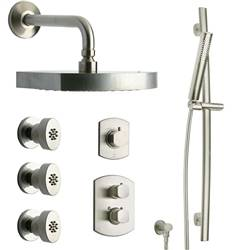 LaToscana - NOVELLO Shower Option 7 Brushed Nickel