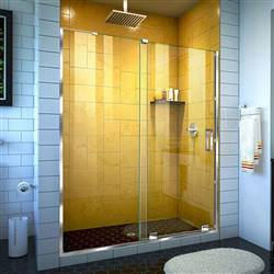 DreamLine SHDR-1960724-01 Mirage-Z 56-60 in. W x 72 in. H Frameless Sliding Shower Door in Chrome