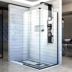 DreamLine Linea SHDR-3230303-09 Screen Shower Door in Satin Black