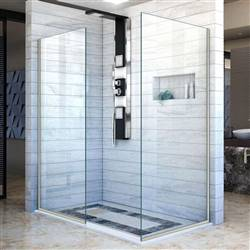 DreamLine Linea SHDR-3234302-04 Screen Shower Door in Brushed Nickel