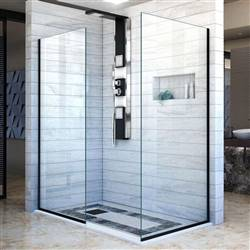 DreamLine Linea SHDR-3234302-09 Screen Shower Door in Satin Black