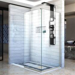DreamLine Linea SHDR-3234343-04 Screen Shower Door in Brushed Nickel