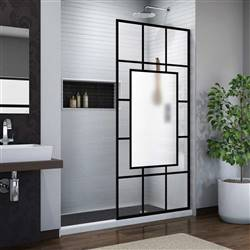 DreamLine French Linea SHDR-3234721-86 Screen Shower Door in Satin Black