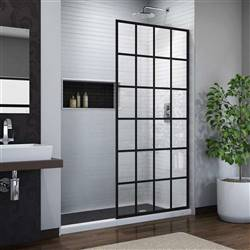DreamLine French Linea SHDR-3234721-89 Screen Shower Door in Satin Black