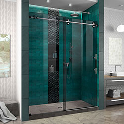DreamLine Enigma-XO SHDR6160762G-17 Shower Door - Smoke Gray Glass/Brushed Tuxedo Hardware