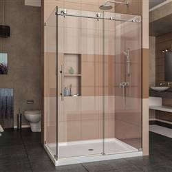 DreamLine Enigma-X SHEN-6132481-07 Sliding Shower Enclosure in Brushed Stainless Steel