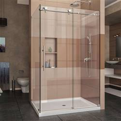DreamLine Enigma-X SHEN-6132481-08 Sliding Shower Enclosure in Polished Stainless Steel