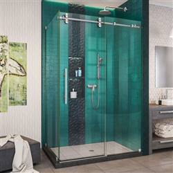 DreamLine Enigma-XO SHEN-6132482-07 Sliding Shower Enclosure in Brushed Stainless Steel