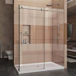DreamLine Enigma-X SHEN-6132601-07 Sliding Shower Enclosure in Brushed Stainless Steel