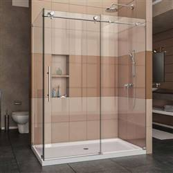 DreamLine Enigma-X SHEN-6132601-08 Sliding Shower Enclosure in Polished Stainless Steel