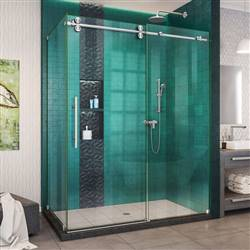 DreamLine Enigma-XO SHEN-6132602-07 Sliding Shower Enclosure in Brushed Stainless Steel