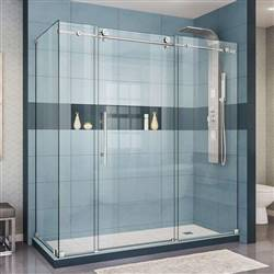 DreamLine Enigma-X SHEN-6132721-08 Sliding Shower Enclosure in Polished Stainless Steel