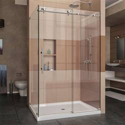 DreamLine Enigma-X SHEN-6134480-07 Sliding Shower Enclosure in Brushed Stainless Steel