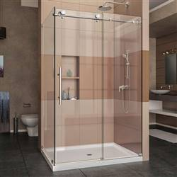 DreamLine Enigma-X SHEN-6134480-08 Sliding Shower Enclosure in Polished Stainless Steel
