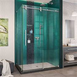 DreamLine Enigma-XO SHEN-6134482-07 Sliding Shower Enclosure in Brushed Stainless Steel
