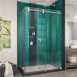 DreamLine Enigma-XO SHEN-6134482-08 Sliding Shower Enclosure in Polished Stainless Steel
