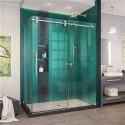 DreamLine Enigma-XO SHEN-6134542-07 Sliding Shower Enclosure in Brushed Stainless Steel