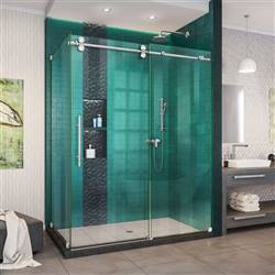 DreamLine Enigma-XO SHEN-6134542-08 Sliding Shower Enclosure in Polished Stainless Steel