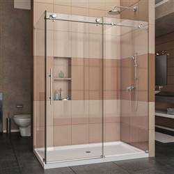 DreamLine Enigma-X SHEN-6134600-08 Sliding Shower Enclosure in Polished Stainless Steel
