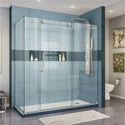 DreamLine Enigma-X SHEN-6134720-08 Sliding Shower Enclosure in Polished Stainless Steel