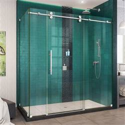 DreamLine Enigma-XO SHEN-6134722-08 Sliding Shower Enclosure in Polished Stainless Steel