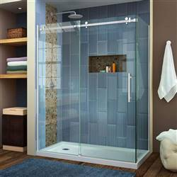 DreamLine Enigma Air SHEN-6434600-07 Sliding Shower Enclosure in Brushed Stainless Steel