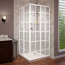 DreamLine French Corner SHEN-8134340-00 Sliding Shower Enclosure in White